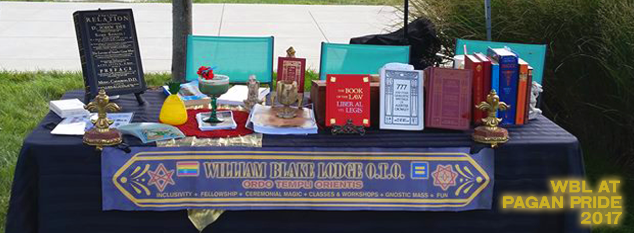 Pagan Pride Table Display